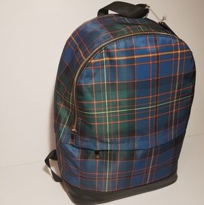 NWT A New Day Plaid Nylon Backpack
